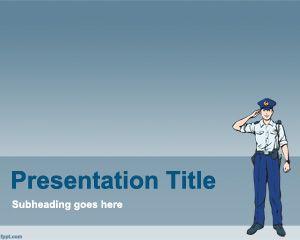 free handcuffs powerpoint template