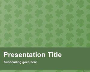Plantilla PowerPoint de Trébol Gratis PPT Template
