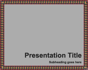 Texture Border PowerPoint Template PPT Template