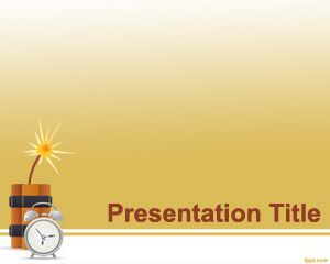 Time Bomb PowerPoint Template PPT Template