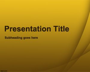 Yellow Quiz PowerPoint Template PPT Template