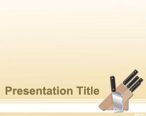 Plantilla PowerPoint de Cuchillo PPT Template