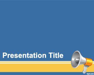 Plantilla PowerPoint de Megáfono PPT Template