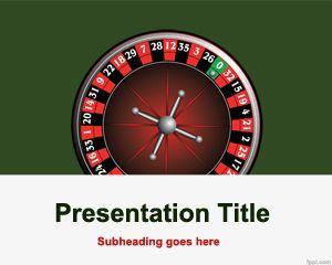 Plantilla PowerPoint de Juego de Ruleta