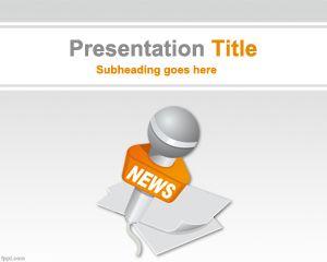 Plantilla PowerPoint para Noticias Internacionales PPT Template