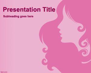 Plantilla PowerPoint de Dama Bonita PPT Template