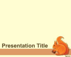 Plantilla PowerPoint de Ardilla
