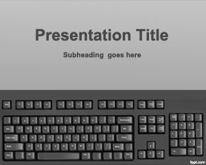 Plantilla PowerPoint con Teclado PPT Template