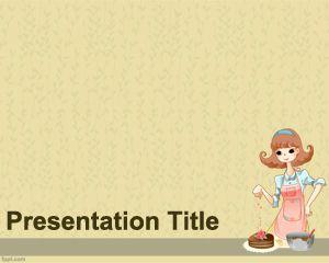 Plantilla PowerPoint para Recetas de Pastelería PPT Template