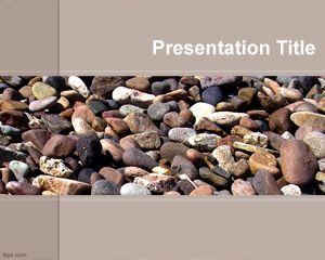 Plantilla PowerPoint de Piedras PPT Template