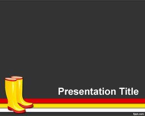 Plantilla PowerPoint de Botas PPT Template