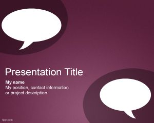 Chat PowerPoint Template PPT Template