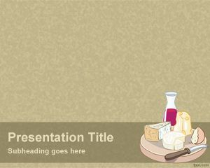 Cheese and Wine Plantilla PowerPoint PPT Template