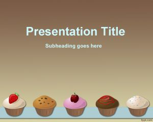 cupcakes recipe powerpoint template. Black Bedroom Furniture Sets. Home Design Ideas