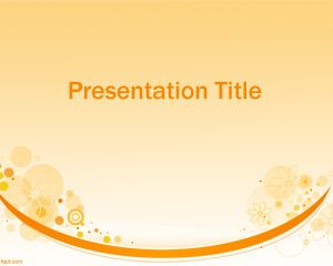 Fondo PowerPoint Moderno de color Naranja PPT Template