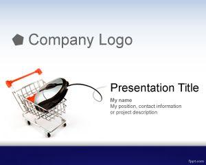 Plantilla PowerPoint de Comercio Electrónico PPT Template