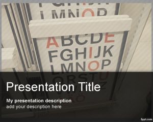 Plantilla PowerPoint de Oculista PPT Template