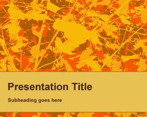 Plantilla PowerPoint con Hojas de Otoño PPT Template