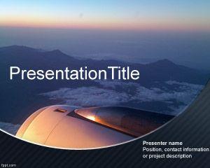 Plantilla PowerPoint de vista aérea