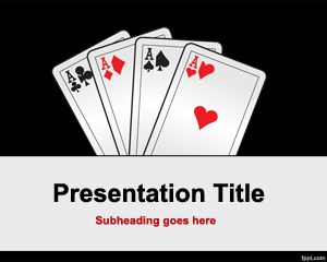 Four of a king PowerPoint Template