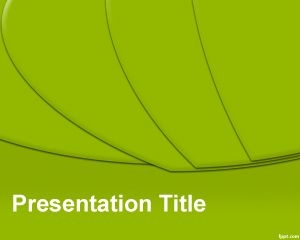 Green slices powerpoint template