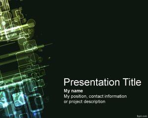 Plantilla PowerPoint de Informática PPT Template