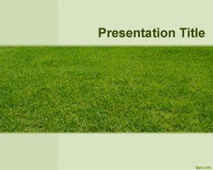 Plantilla PowerPoint de Campo Verde PPT Template