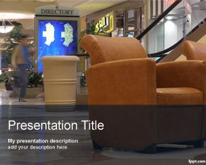 Centro Comercial PowerPoint Template