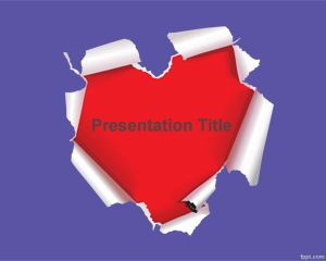 Plantilla PowerPoint con Corazón de Papel PPT Template