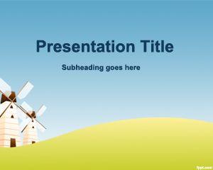 Plantilla PowerPoint de Molinos PPT Template