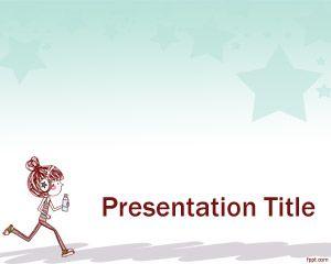 Plantilla PowerPoint con Niña Deportista PPT Template