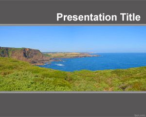 Plantilla PowerPoint con Vista Panoramica PPT Template