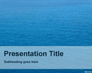 Plantilla PowerPoint de Océano