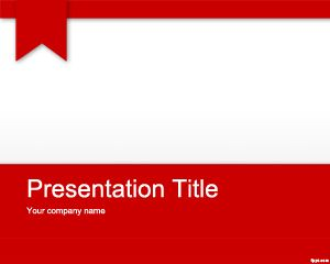 Free Red PowerPoint template for presentations