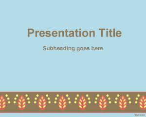 Plantilla PowerPoint con Borde Rococo PPT Template