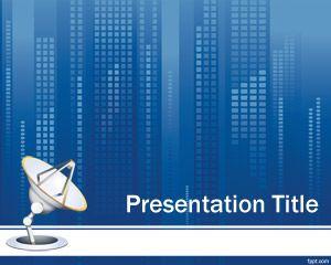 Plantilla PowerPoint de Comunicación Satelital PPT Template