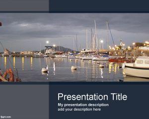 Plantilla PowerPoint de Puerto Marítimo PPT Template
