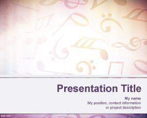 Plantilla PowerPoint de Partituras