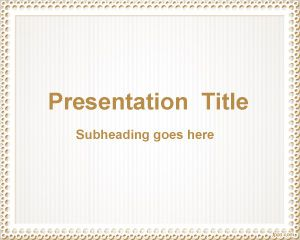 Diseño de Diapositiva Simple PPT Template