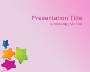 Plantilla PowerPoint con Fondo de Estrellas PPT Template