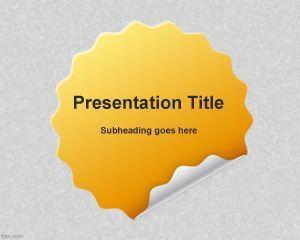 Plantilla PowerPoint de Autoadhesivo PPT Template