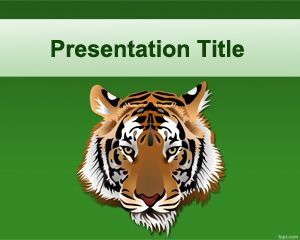 Free PowerPoint template with Tiger Face