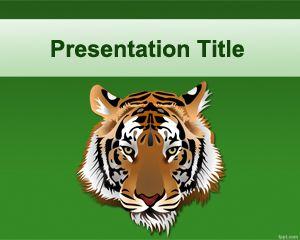 Plantilla PowerPoint de Tigre PPT Template