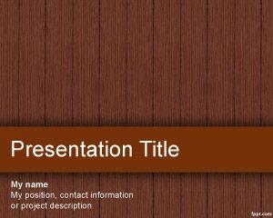 Plantilla PowerPoint de Madera PPT Template