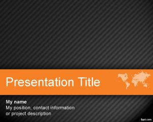 Link toWorld orange powerpoint template