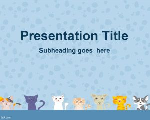 Cats Background for PowerPoint PPT Template