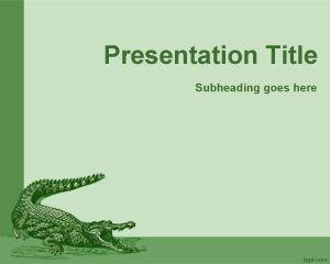 Plantilla PowerPoint de Cocodrilo PPT Template
