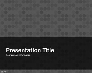 Gray Pattern PowerPoint Template PPT Template