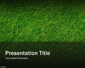 Green Grass PowerPoint Background PPT Template