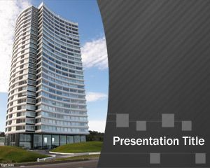 Free Architect PowerPoint Template with Apartment in the slide design